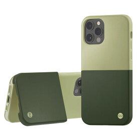 Campino カンピーノ iPhone12Pro iPhone12 OLE stand II アイフォン ケース カバー スマホケース グリーン 緑 みどり ネコポス便配送 スタンド