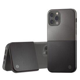 Campino カンピーノ iPhone12Pro iPhone12 OLE stand II アイフォン ケース カバー スマホケース ブラック 黒 シルバー 銀 ネコポス便配送 スタンド