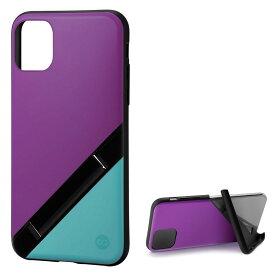 Campino カンピーノ iPhone 11Pro OLE stand アイフォン ケース カバー スマホケース パープル グリーン 紫 緑 みどり ネコポス便配送 スタンド