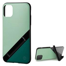 Campino カンピーノ iPhone 11Pro OLE stand アイフォン ケース カバー スマホケース グリーン 緑 みどり 青 ネコポス便配送 スタンド