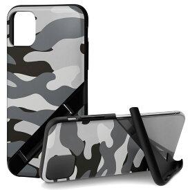 Campino カンピーノ iPhone 11 OLE stand アイフォン ケース カバー スマホケース グレー 灰色 カモフラージュ ネコポス便配送 スタンド 迷彩