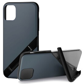 Campino カンピーノ iPhone 11 OLE stand アイフォン ケース カバー スマホケース ブルー 青 灰 グレー ネコポス便配送 スタンド
