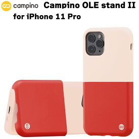 Campino カンピーノ OLE stand II for iPhone 11 Pro ピンクホワイト×カーマインレッド アイフォン ケース カバー スマホケース おしゃれ ネコポス便配送