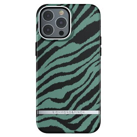 Richmond&Finch リッチモンドアンドフィンチ スマホケース ハード ケース iPhone13ProMax エメラルドグリーン ゼブラ 2021 Emerald Zebra