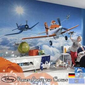 ドイツ製インポート壁紙 【8-465】Planes Above the Clouds《即納可》[輸入壁紙 デザイン おしゃれ 輸入 海外 外国 紙 壁紙 クロス のりあり DIY リフォーム ディズニー プレーンズ 飛行機 空 雲 子供部屋 友安製作所]