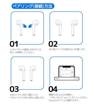 Bluetoothイヤホンワイヤレスブルートゥース両耳シンプル小型かわいいヘッドセットイヤフォン音楽通話電話コードレス内蔵マイクスポーツランニング高音質iPhoneAndroidiOSスマホ対応日本語説明書付き簡単ペアリング