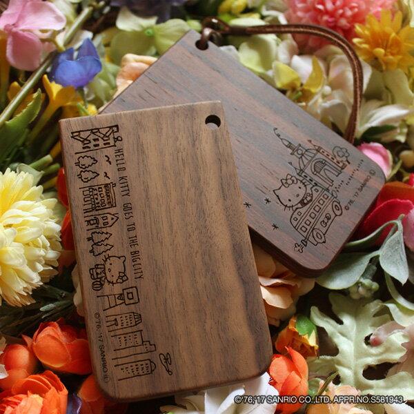 ■キティちゃんの木製ICパスケース・カードケース定期入れ
