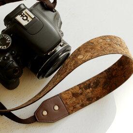 ■コルクレザーのカメラストラップ「CONNIE Neck Camera Strap」