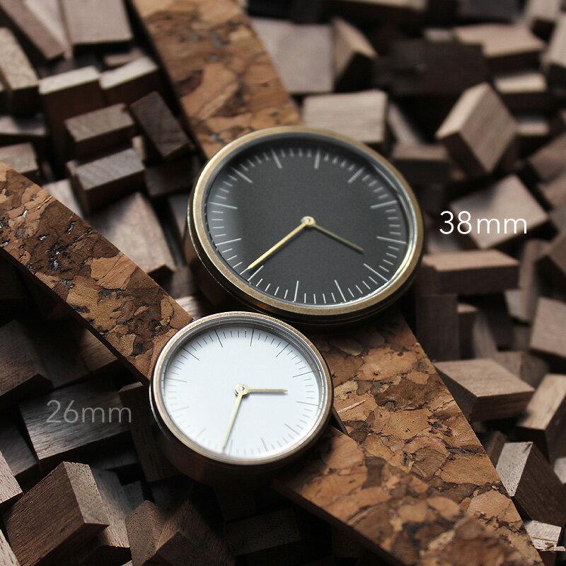 ■シンプルでおしゃれなコルク腕時計「CONNIE SimpleWatch 38mm」メンズ/レディース