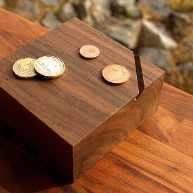 ■「Coin Box」貯金箱 おしゃれ 木製 コインバンク 500円玉