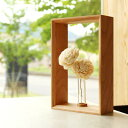■木製ミニフラワーベース・一輪挿し「Display Frame for Flower」