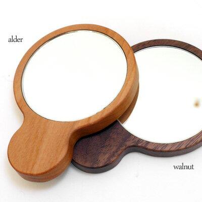 ■木製手鏡「Hand Mirror(持ち手あり)」