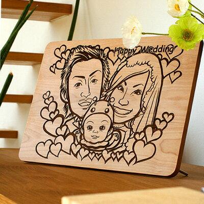 ■メッセージを木製ボードに刻印「Message Board A3 無垢」