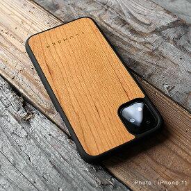 ■「+LUMBER iPhone11 ALL-AROUND CASE」iPhone11 アイフォンケース カバー ハード ウッド 木製 天然木 Qi対応 かっこいい かわいい おしゃれ デザイン ギフト プレゼント Hacoa 名入れ可 高品質 6.1インチ