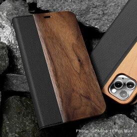 ■「+LUMBER iPhone 11ProMax FLIPCASE」iPhone 11ProMax アイフォンケース カバー 手帳型 ブック型 ウッド 木製 天然木 Qi対応 かわいい おしゃれ デザイン ギフト プレゼント Hacoa 名入れ可 高品質 6.5インチ