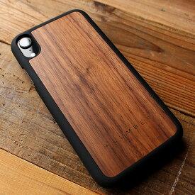 ■「+LUMBER iPhoneXR ALL-AROUND CASE」iPhoneXR アイフォンケース カバー ハード ウッド 木製 天然木 Qi対応 かっこいい かわいい おしゃれ デザイン ギフト プレゼント Hacoa 名入れ可 6.1インチ 高品質