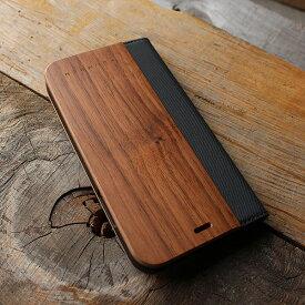 ■「+LUMBER iPhoneXR FLIPCASE」iPhoneXR アイフォンケース カバー 手帳型 ブック型 ウッド 木製 天然木 Qi対応 かっこいい おしゃれ デザイン ギフト プレゼント Hacoa 名入れ可 6.1インチ 高品質