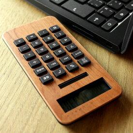 ■【SALE】【ネット限定】【+L MINI2】木製ソーラー電卓「SOLAR POWERED CALCULATOR MINI2」