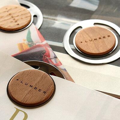 ■【+L】木製ペーパークリップ 5個セット
