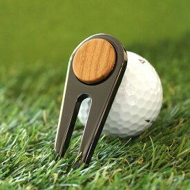 ■【+L】木製グリーンフォーク「Golf Green Fork」