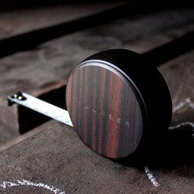 ■【プレミアム】【+L】木製メジャー・巻尺「MEASURE 3.5M(黒檀)」