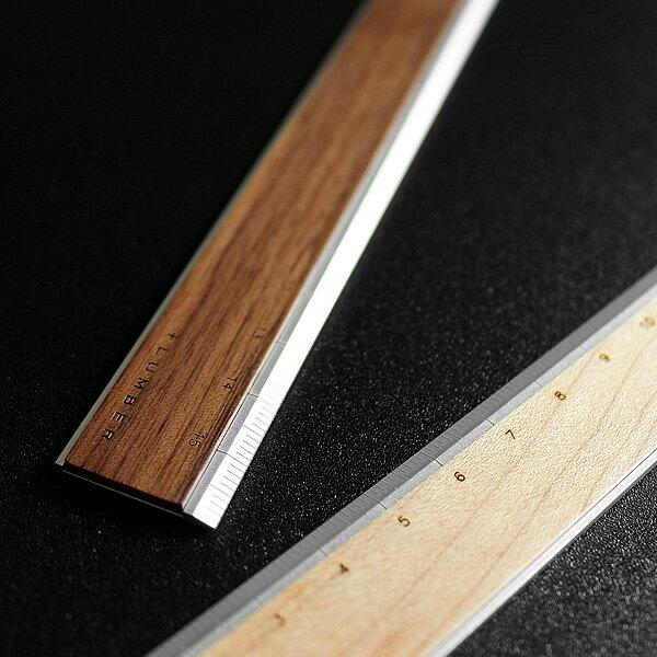 ■【+L】アルミ&木製ものさし・定規「RULER」