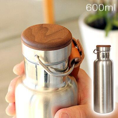 ■木製水筒・タンブラー・サーモボトル「THERMO BOTTLE 600ml」
