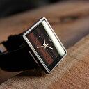 ■四角い腕時計「+LUMBER WATCH 1200」腕時計 ウォッチ 木製 ウッド メンズ レディース ユニセックス 日本製ムーブメ…