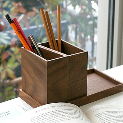■木製のモジュールトレイ&ペンスタンドセット