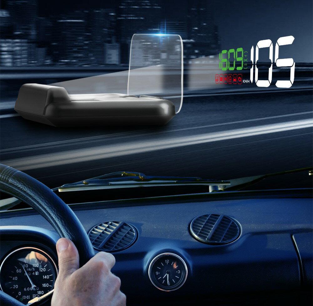 ヘッドアップディスプレイ HUD OBD2 スピードメーター タコメーター LEDパネル方式 日本語説明書