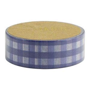 マスキングテープ 15mm ギンガムチェック ネイビー ×4個セット