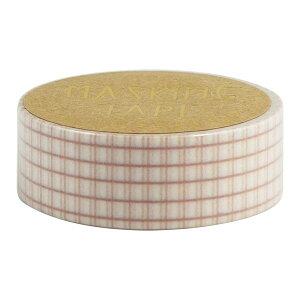 マスキングテープ 15mm 方眼ピンク ×4個セット