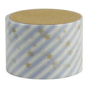 マスキングテープ 30mm スラントスター ブルー slant star_blue ×4個セット
