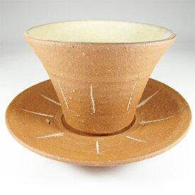 Cup & Saucer (sunshine)-Tanba Tachikui Pottery-