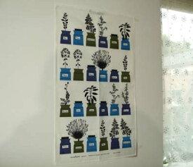アルメダールス キッチンタオル「ハーブ ブルー」北欧 リネン&コットン 横幅42cm