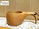 ククサ(鳥)大北欧 木製 革ひも付き 木製カップ インテリア