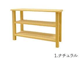 ミニチュア家具「オープン棚-低」日本製 木製 色選択 縮尺1/16 単品