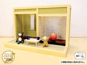 Y&T ナガタ工房 和風ドールハウスミニ和室-2畳(I型 床の間-1)1/16日本製 木製 縮尺:1/16 横幅26.4cm