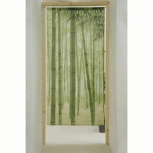 【メール便 送料無料】のれん 竹林若葉 ロングサイズ 爽やか 清涼感 和風 85x170cm 緑 日本製 10568 タペストリーにも