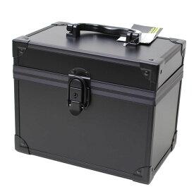 鍵付き ブラックアルミボックス 2977-01 メイクボックス 鏡付き ツールボックス 道具入れ 小物入れ アルミ製 黒【あす楽対応】