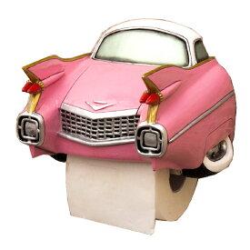 オールディーズ トイレットペーパーホルダー PK CAR アメリカン雑貨 ピンク GA492P【あす楽対応】