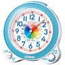 セイコー知育目覚まし時計(薄青)KR887L連続秒針【あす楽対応】