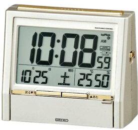 【動画あり】セイコー 電波時計 目覚し時計 TALK LINER トークライナー DA206G 音声報時機能付き 華やかな薄金色パール塗装【あす楽対応】