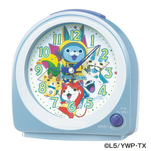 SEIKO セイコークロック 妖怪ウォッチ クオーツ目覚し時計(薄青パール塗装) CQ144L【あす楽対応】