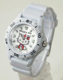 【メール便 送料無料】CITIZEN Q&Q 腕時計 Hello Kitty (ハローキティ) ダイバー アナログ表示 10気圧防水 ホワイト VQ75-431 レディース