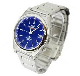 CITIZEN Q&Q 腕時計 電波 ソーラー HG16-212 ソーラーメイト アナログ 10気圧防水 ブルー メンズ【あす楽対応】