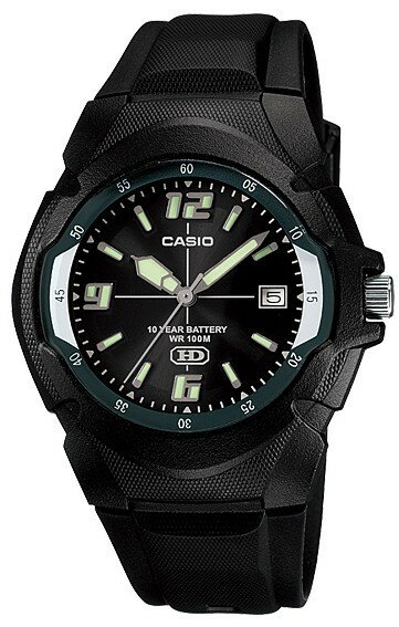 カシオ スタンダードウォッチ 腕時計 MW-600F-1AJF 10気圧防水 10年電池 黒 メンズ【あす楽対応】