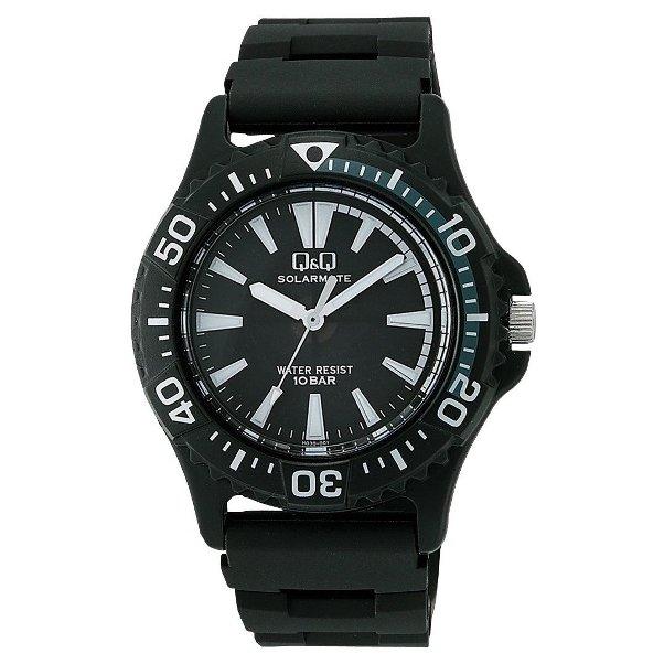 シチズン Q&Q 腕時計 ソーラーメイト ソーラー電源 10気圧防水 ブラック H030-001 メンズ 【あす楽対応】
