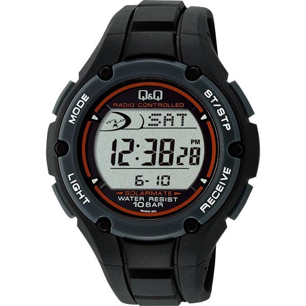 CITIZEN(シチズン)腕時計 Q&Q SOLARMATE(ソーラーメイト) ソーラー電波時計 10気圧防水 ブラック MHS6-300 メンズ 【あす楽対応】