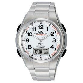 シチズン Q&Q 電波ソーラー腕時計 メンズ アナデジ表示 10気圧防水 ステンレス MD02-204 【あす楽対応】